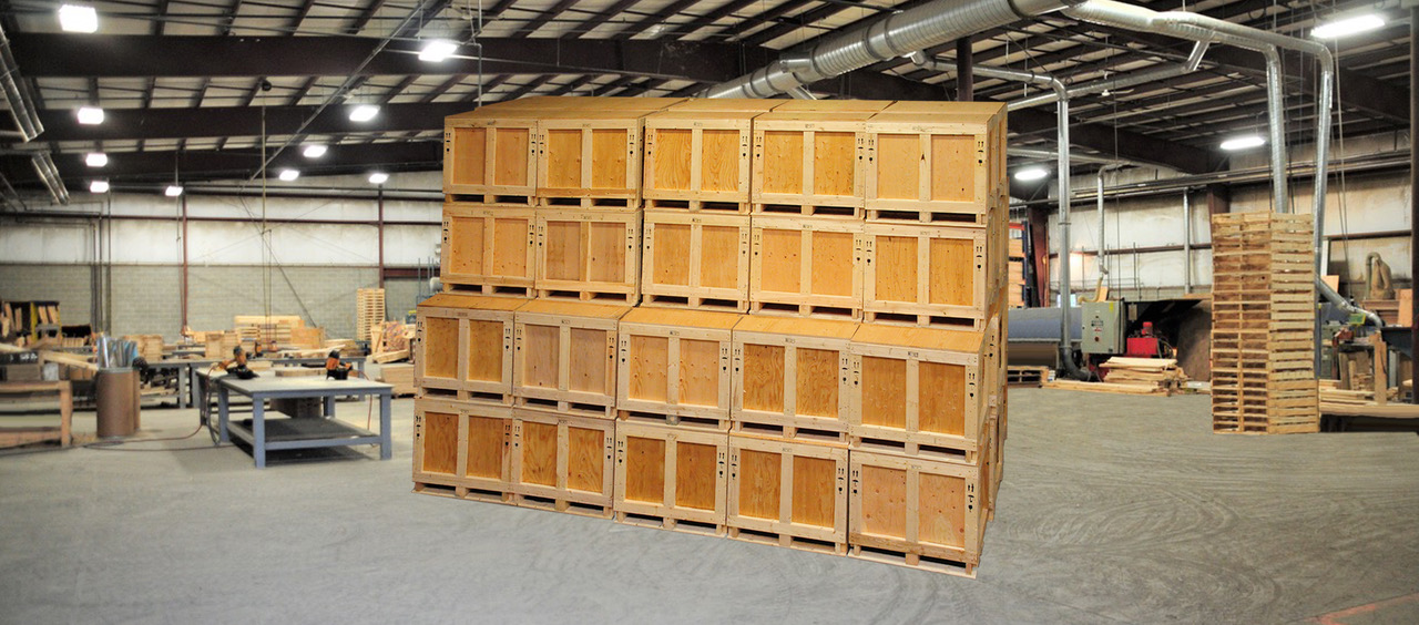 Butler & Baird ISPM 15 Crates on shop floor