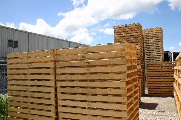stack of pallets/skids